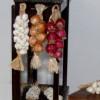 NEW item- ooak 1/12th scale – Dollhouse Miniature BRAIDED PURPLE ONION