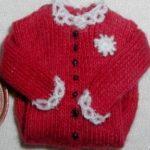 Cranberry button front, lace (2)