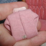 Pink folded sweater - back