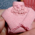 Pink Sweater front lace detail