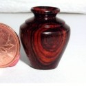 Cocobolo turned vase