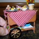 Tea cart side view