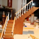 Stairs with handrail fitting