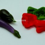 Eggplants, Red and Green Pepper