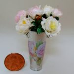 Peonies in new tin pot